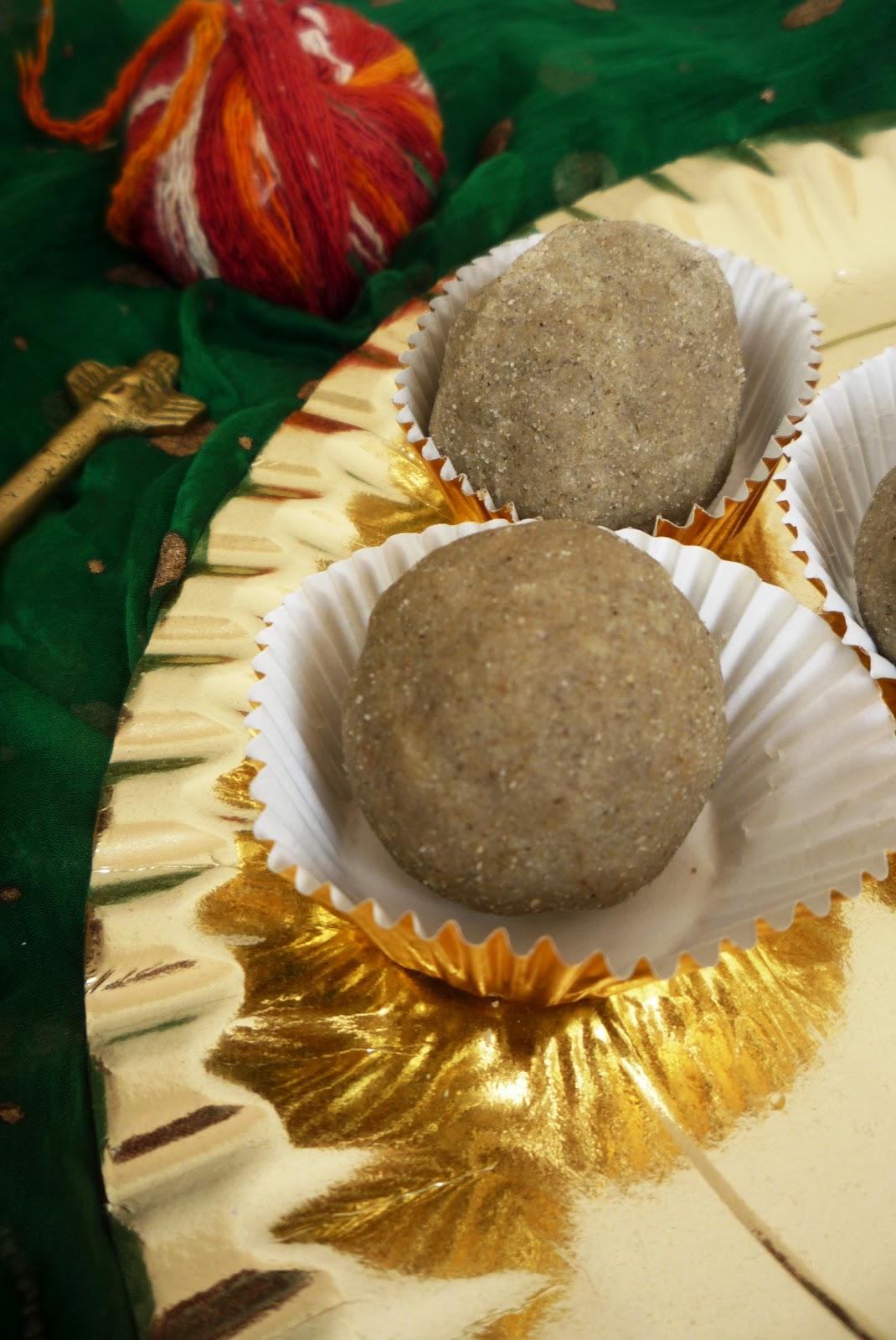 Millet flour fudge