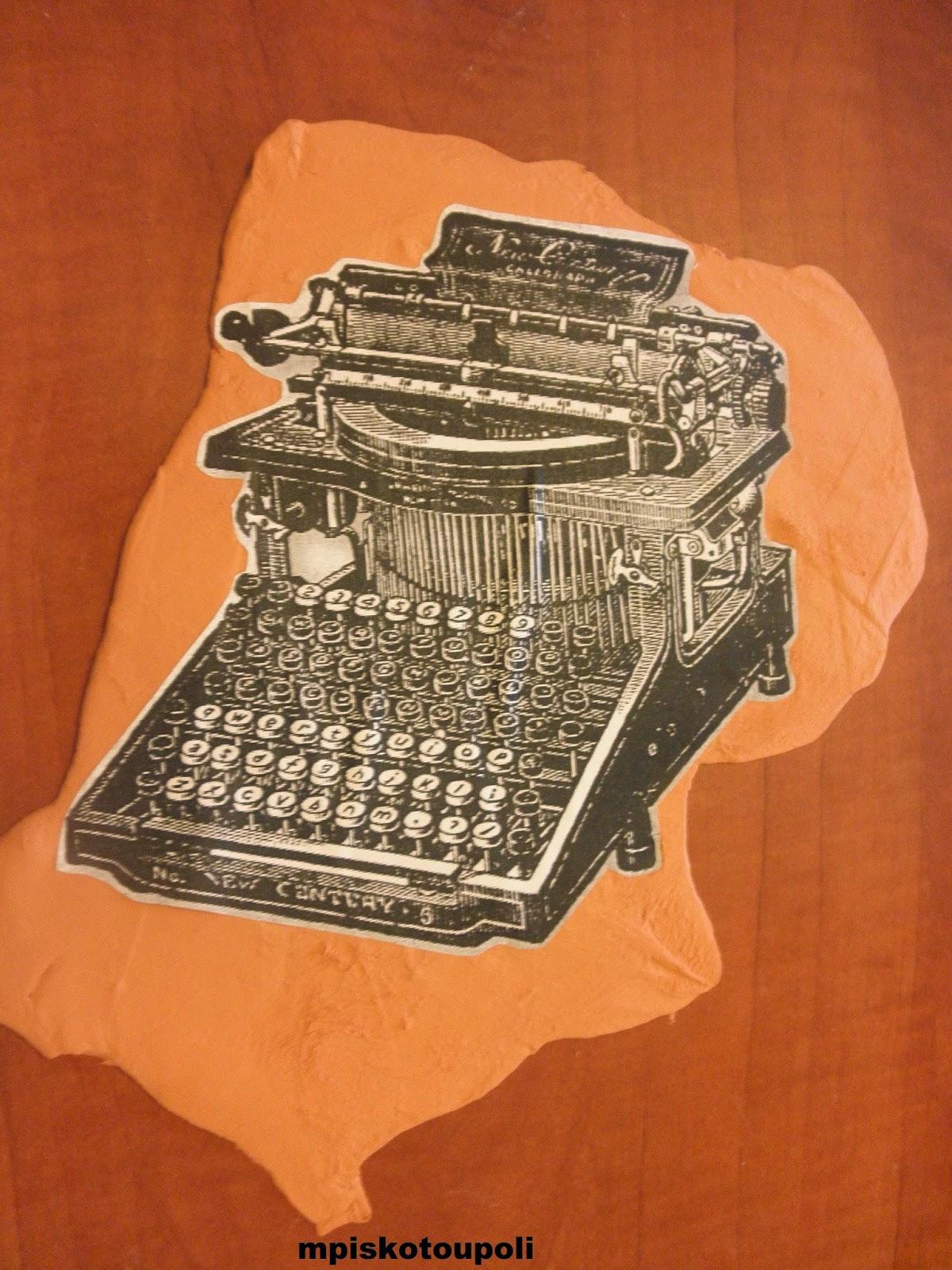 clay typewriter