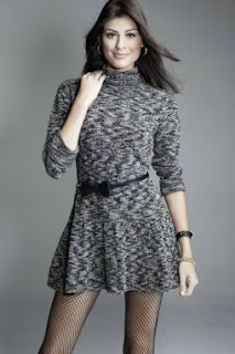 vestidos de tricô