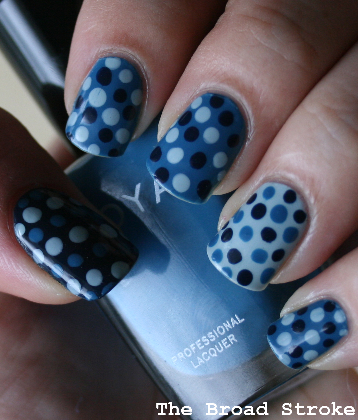 The Broad Stroke: Blue Polka Dots