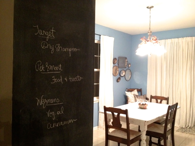 what do you guys think of chalkboard walls do you have one of your own have you used magnetic paint before iu0027d love to know if it gave you a hard time