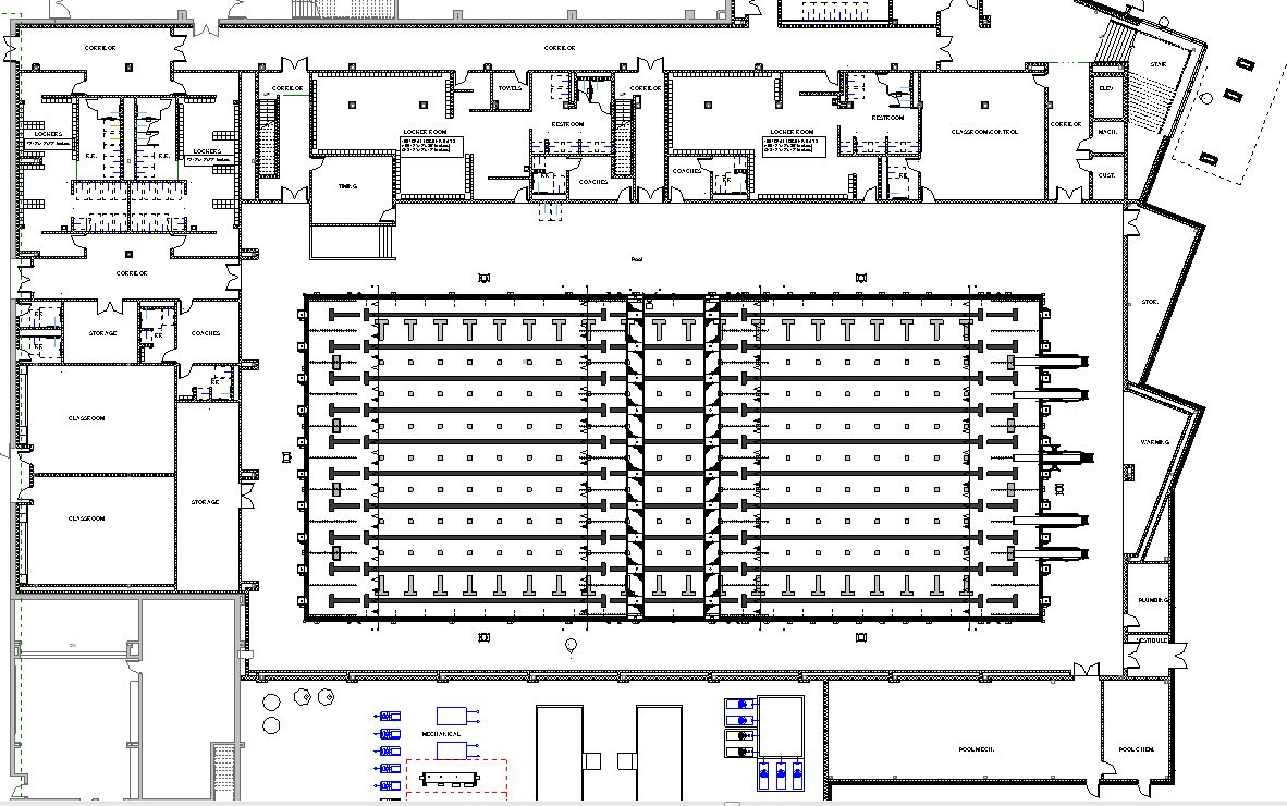 Lake central high school room concepts pool for Swimming pool floor plan
