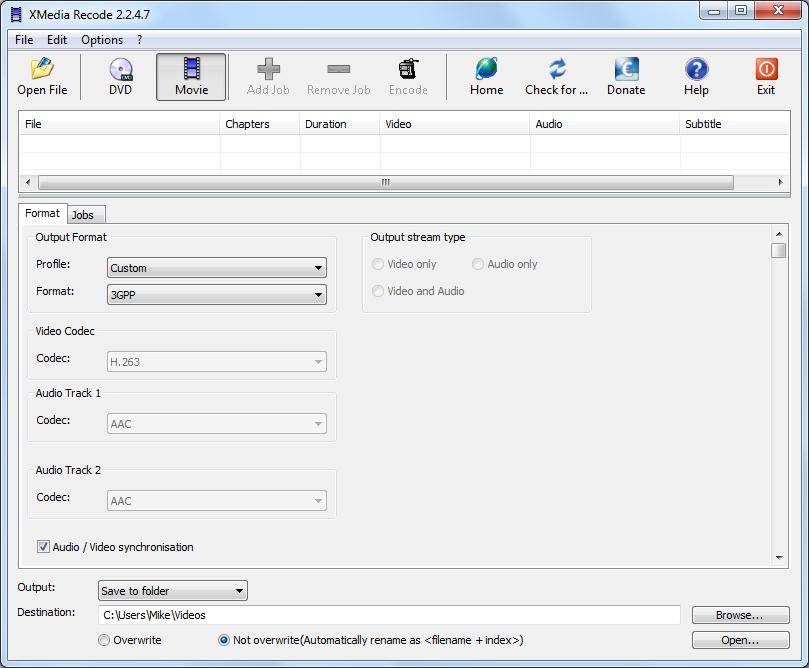تحميل برنامج تحويل الفيديو الى XMedia Recode 2015 3GP Mp3