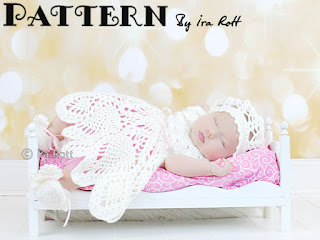 Baby dress baptism christening gown crochet pattern by Irarott
