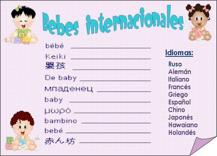 La Casa De Chichi: Juegos para BabyShower