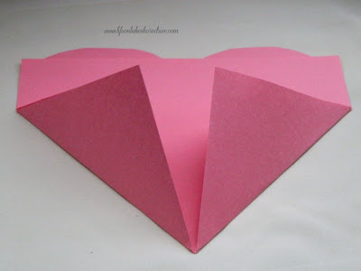how to fold a paper heart tutorial