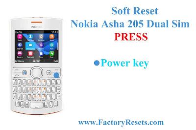 Soft Reset Nokia Asha 205 Dual Sim