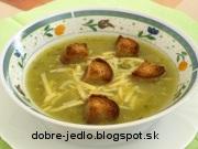 Cuketová polievka so syrom - recept