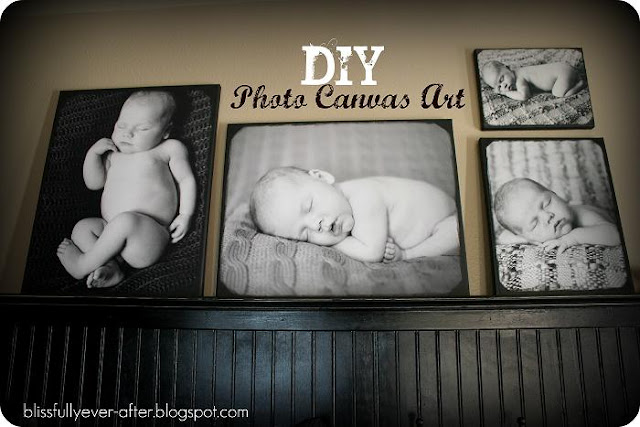 Southern scraps diy photo canvas must do monday Diy canvas art