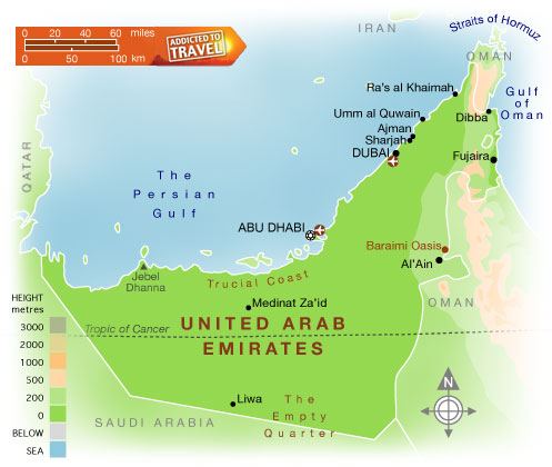 United Arab Emirates Map Political Regional Maps of Asia Regional