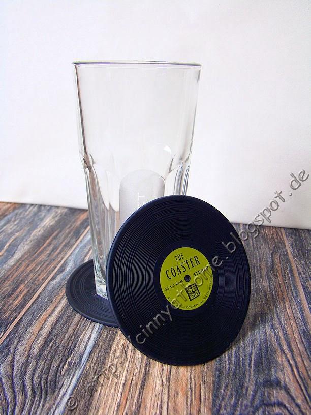 Coasters - Glasuntersetzer aus Silikon als Schallplatte
