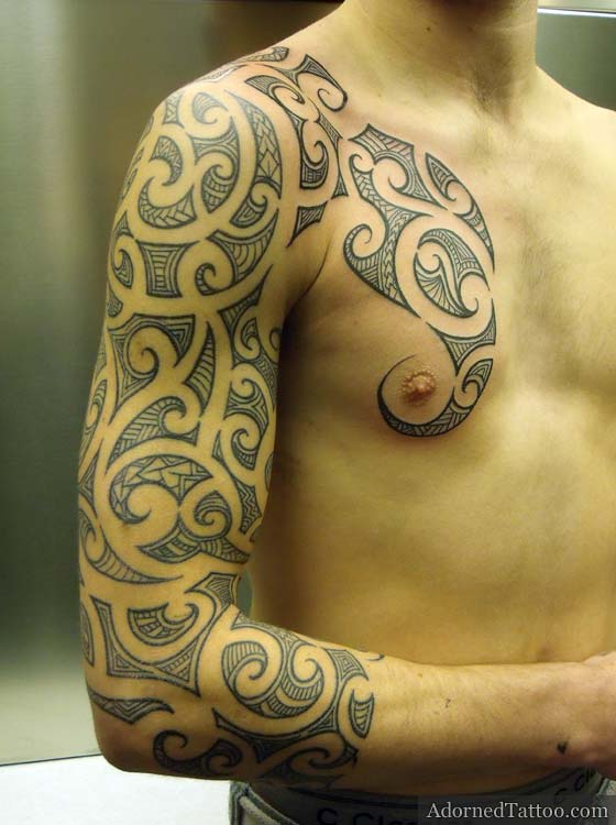 maori tattoo gallery maori sleeve tattoos. Black Bedroom Furniture Sets. Home Design Ideas