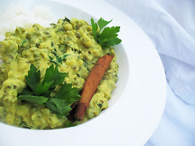 mung beans in yogurt sauce