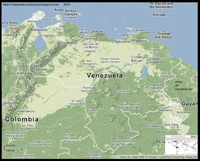 Mapa de Relieve de VENEZUELA, Google Maps