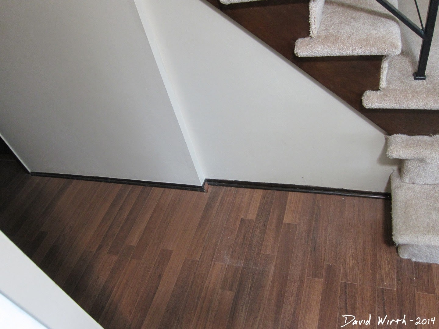 hallway baseboard, easy upgrade