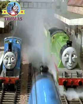 Thomas the tank engine Henry the train Edward the blue engine and Gordon the big express engine