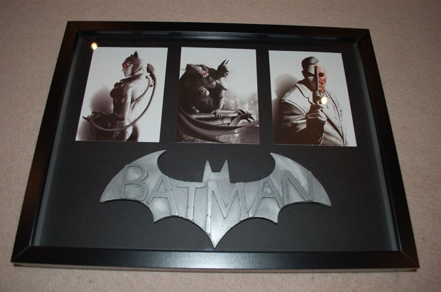 batman arkham city framed display
