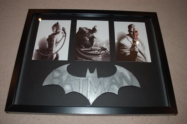 batman arkham city framed display
