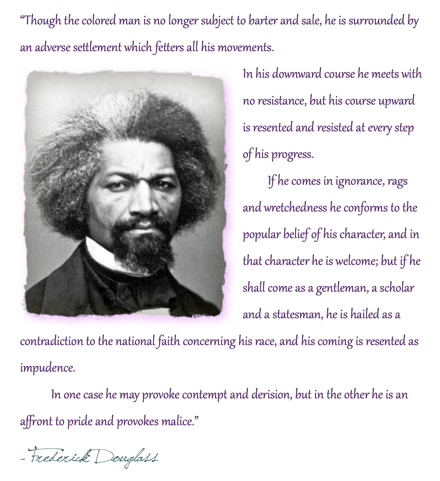 frederick douglas and malcolm x Extracts from this document introduction the quest for freedom through literacy in the essays learning to read and write and coming to the awareness of language frederick douglass.