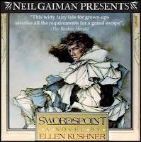 audiobook cover of Swordspoint by Ellen Kushner by Neil Gaiman Presents