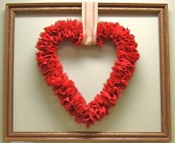 My Valentine Posts, Make this Red Burlap Heart Wreath