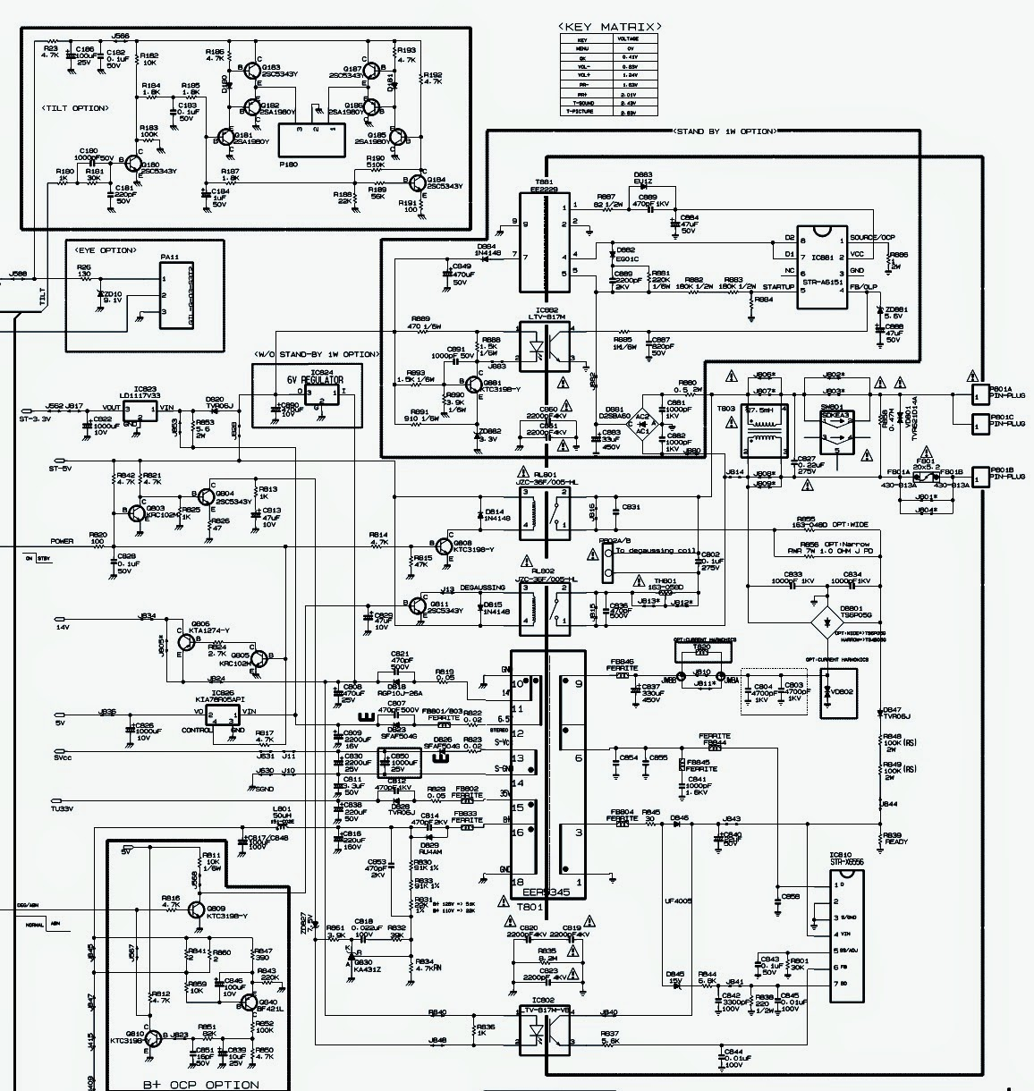 Lg Xd Ultraslim Crt Tv 29fu1rl Rg Rld Smps Deflection And System Circuit Diagram Schematic