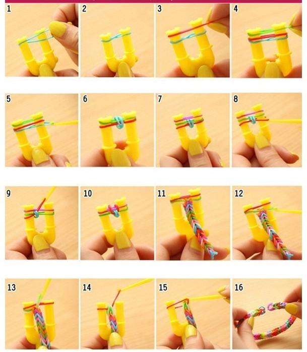 Как из резинок сделать разные браслеты