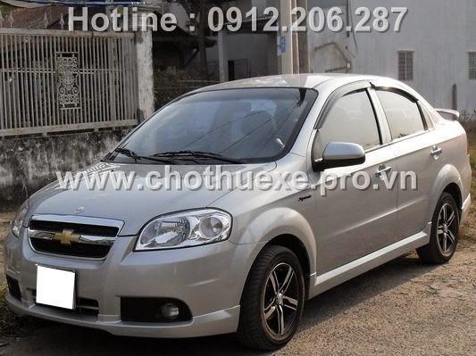 Cho thuê xe 4 chỗ Chevrolet Aveo giá rẻ tại Hà Nội