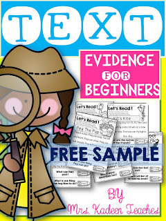 TEXT EVIDENCE FREE SAMPLE