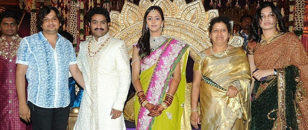 Hairstyle Coiging Jewellery At Junior Ntr Marriage