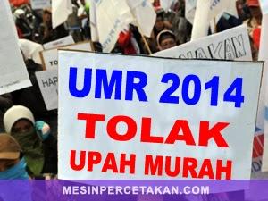Demo Buruh - UMP 2014