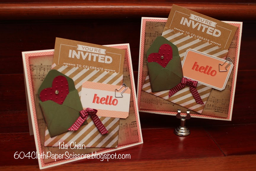 Party Bundle invitations by Ida Chan #StampinUp