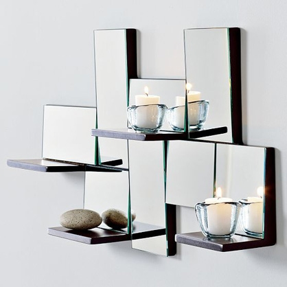 Modern house luxury and stylish modern wall mirrors for for Modern mirrored wall art