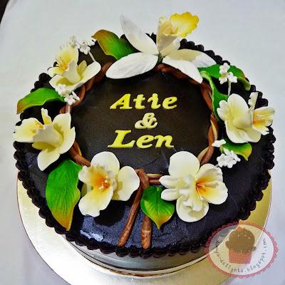 Hantaran Cake - Choc Ganache
