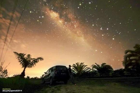 FOTO: Bima Sakti di Langit Riau