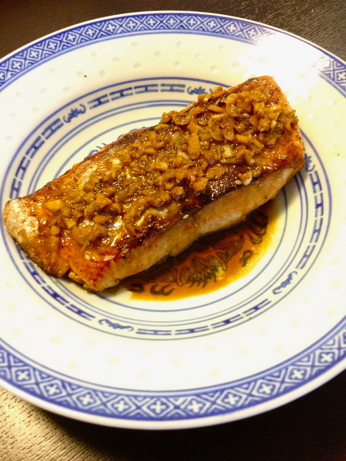 Steamed Salmon With Garlic And Ginger Recipe — Dishmaps
