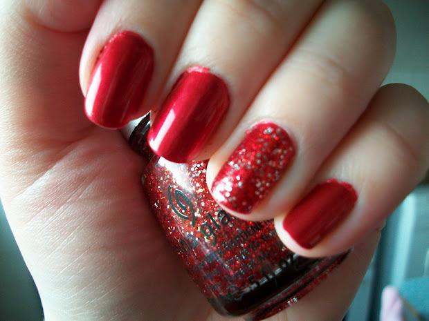 maz makeup red christmas sparkle