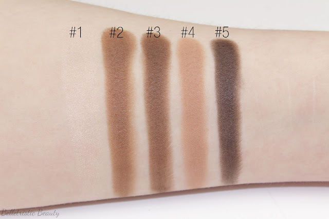 Yves Saint Laurent Fauves 2 Eyeshadow Couture Palette 5 Color Ready To Wear swatches with forced flash in studio lighting