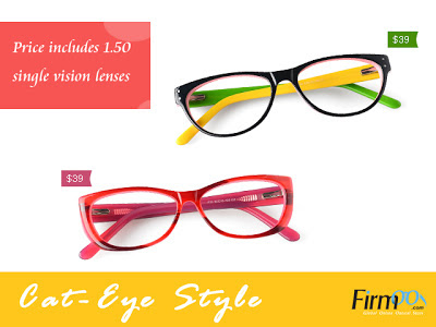 Firmoo Cat-Eye Glasses