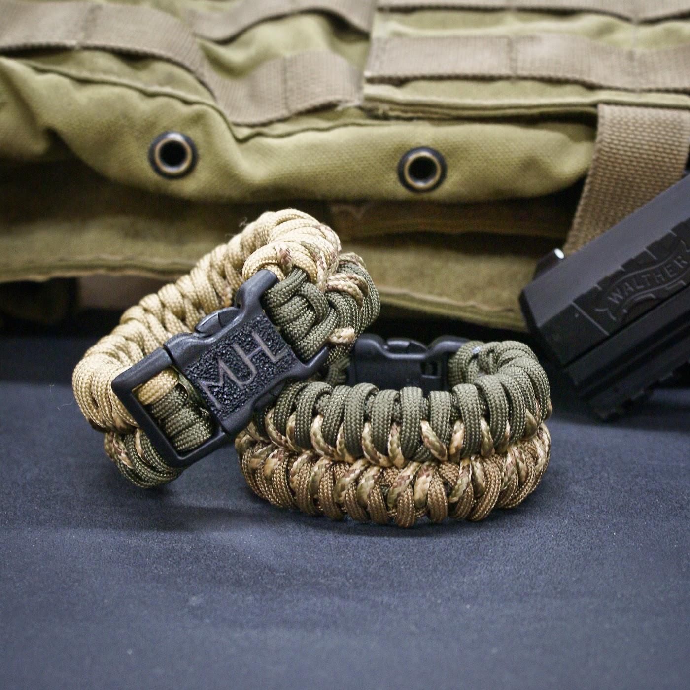 Para cord bracelet survival bands.