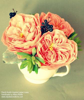 david austin roses in paper
