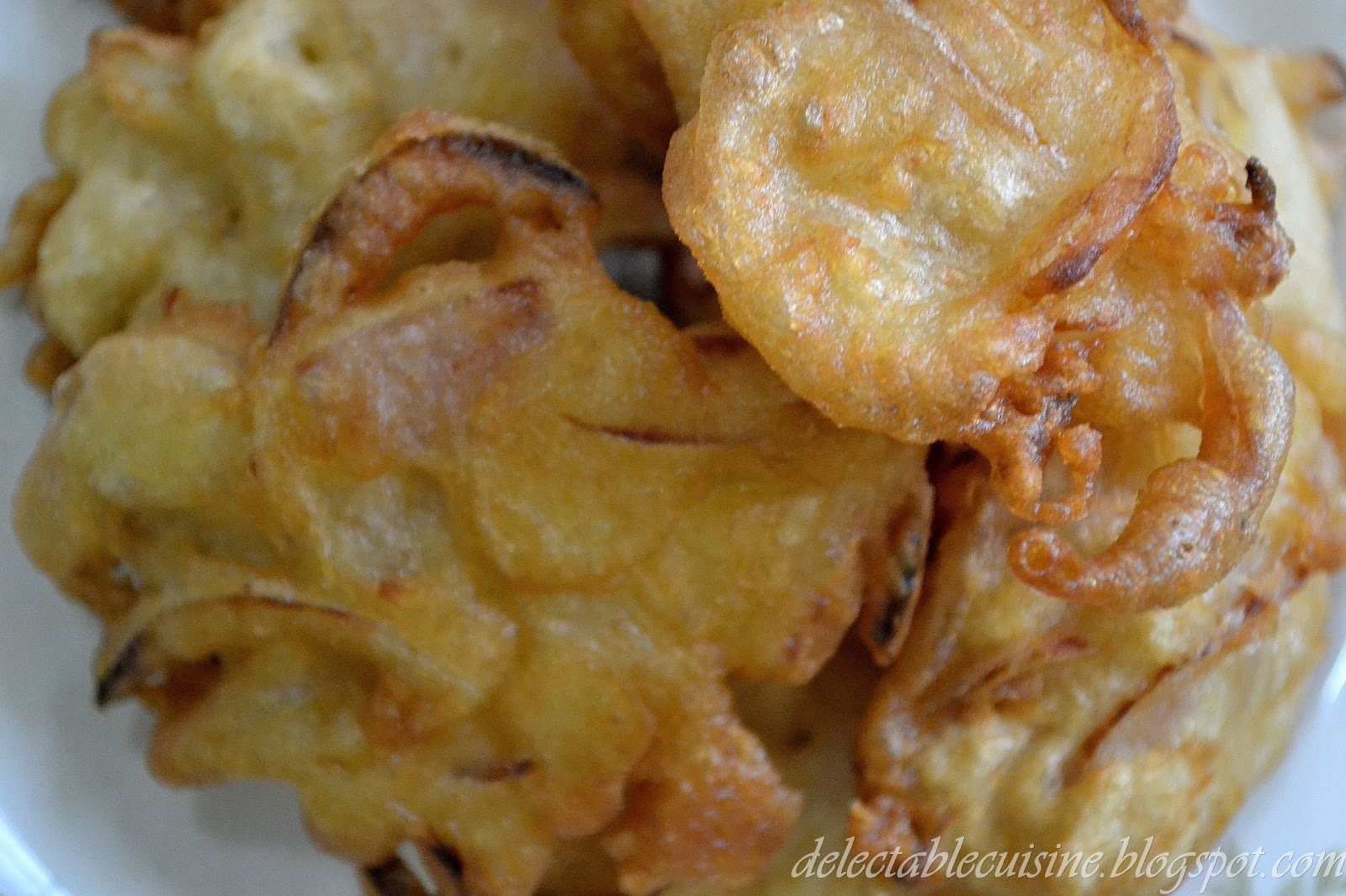 ONION FRITTERS ...