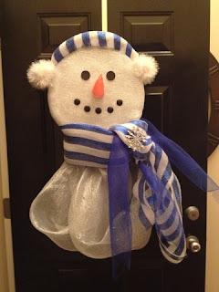Coming Soon - How to make a cute Deco Mesh Snowman Wreath