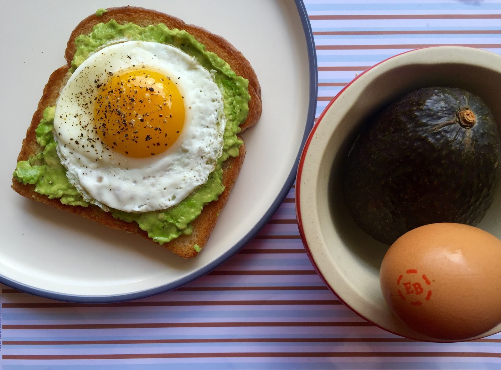 Whole Grain Toast With Mashed Avocado And An Egg Recipe ...