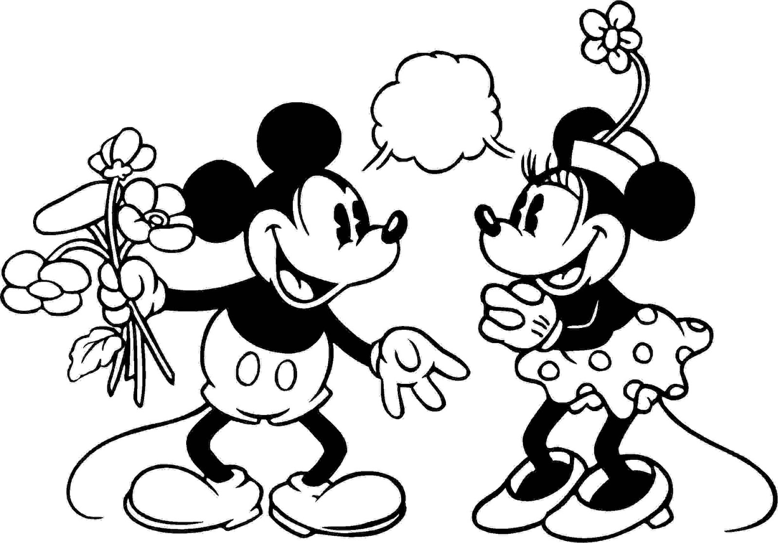 Mickey Printable Coloring Pages Print Minnie And Mickey Being