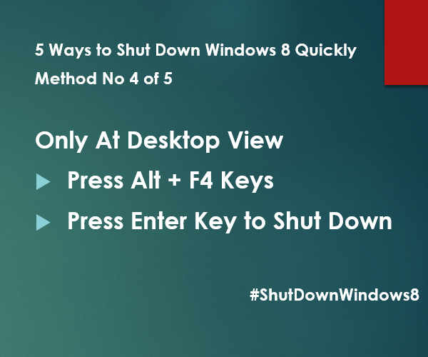 ShutDownWindows8 at desktop view