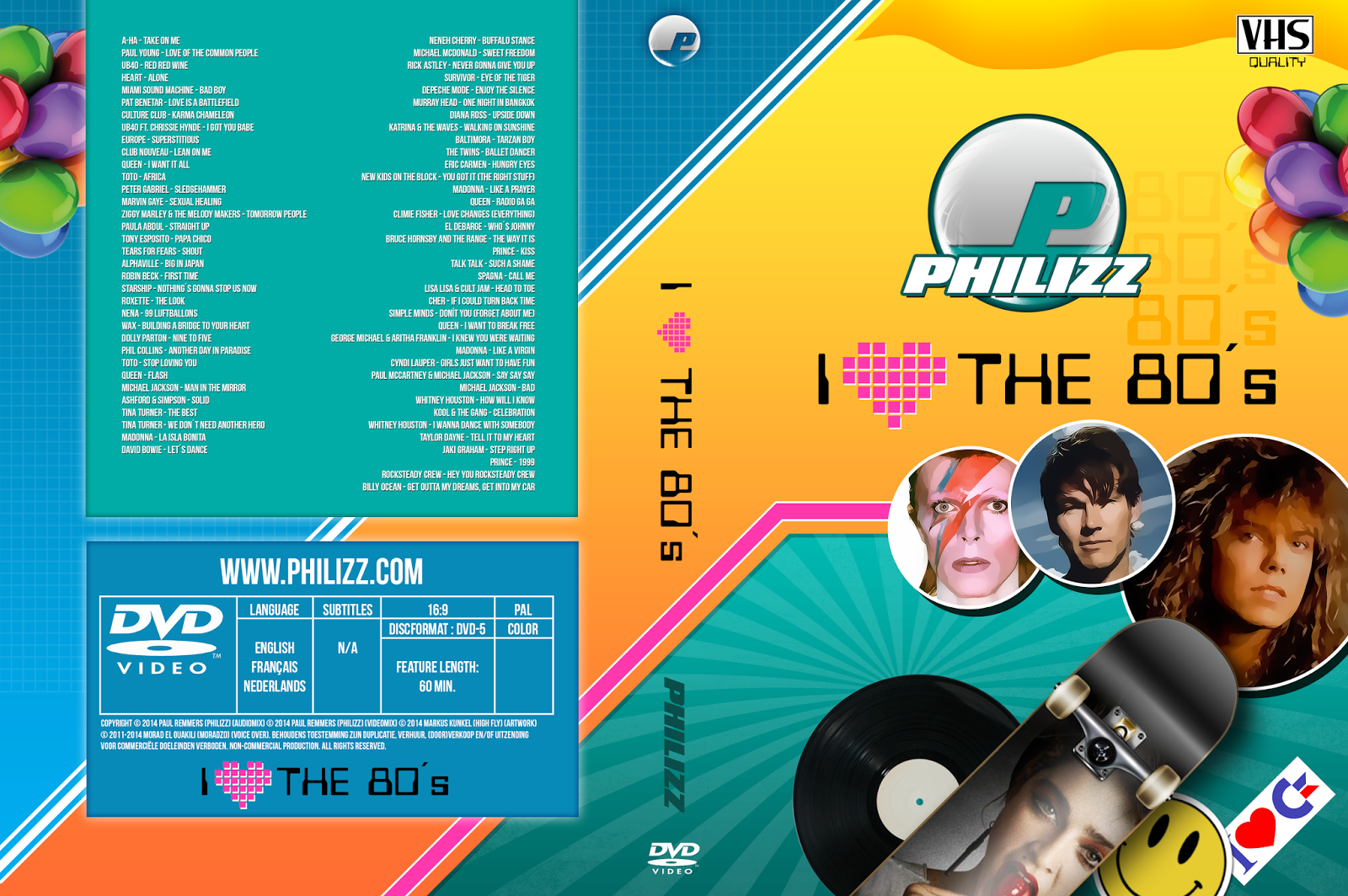 Download Philizz I Love The 80s DVD-R Philizz 2B  2BI 2BLove 2BThe 2B80 s 2BDVD