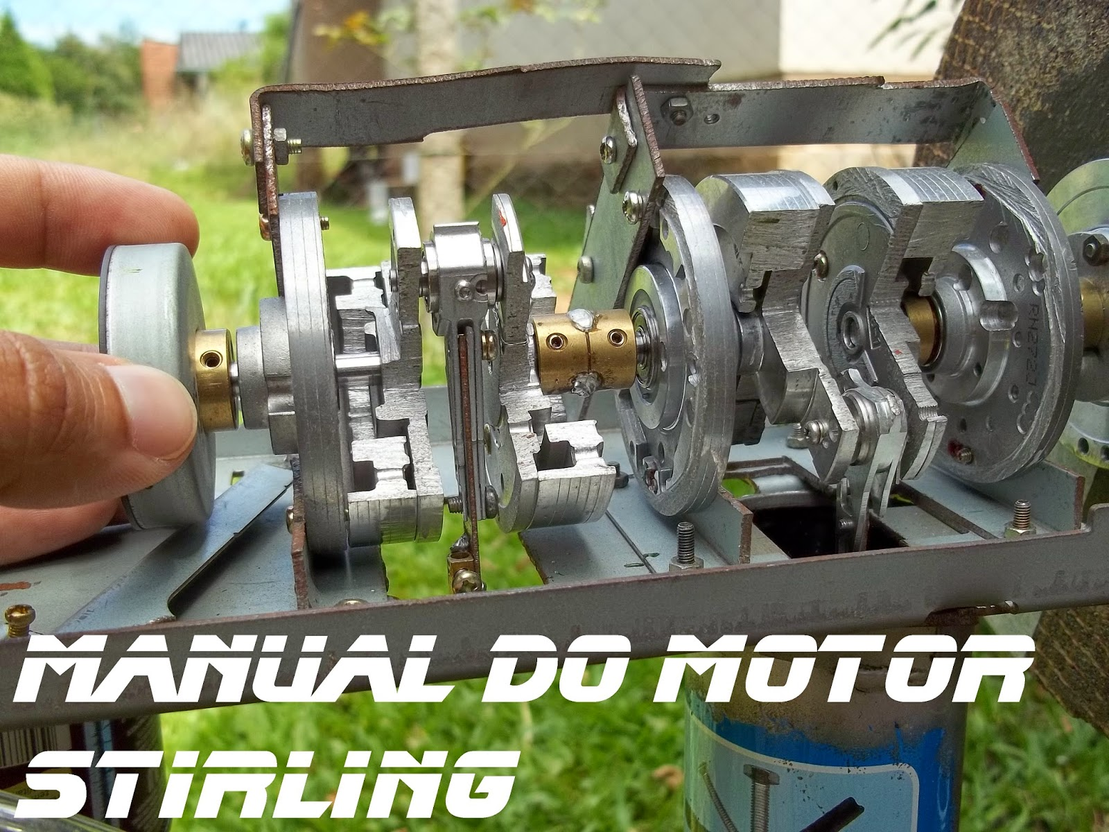 Montagem completa do virabrequim, Manual do motor Stirling