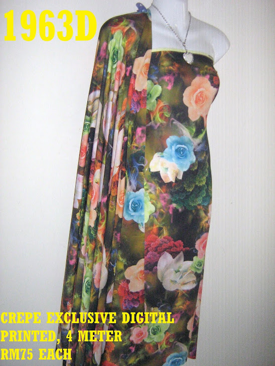 CDP 1963D: CREPE EXCLUSIVE DIGITAL PRINTED, 4 METER