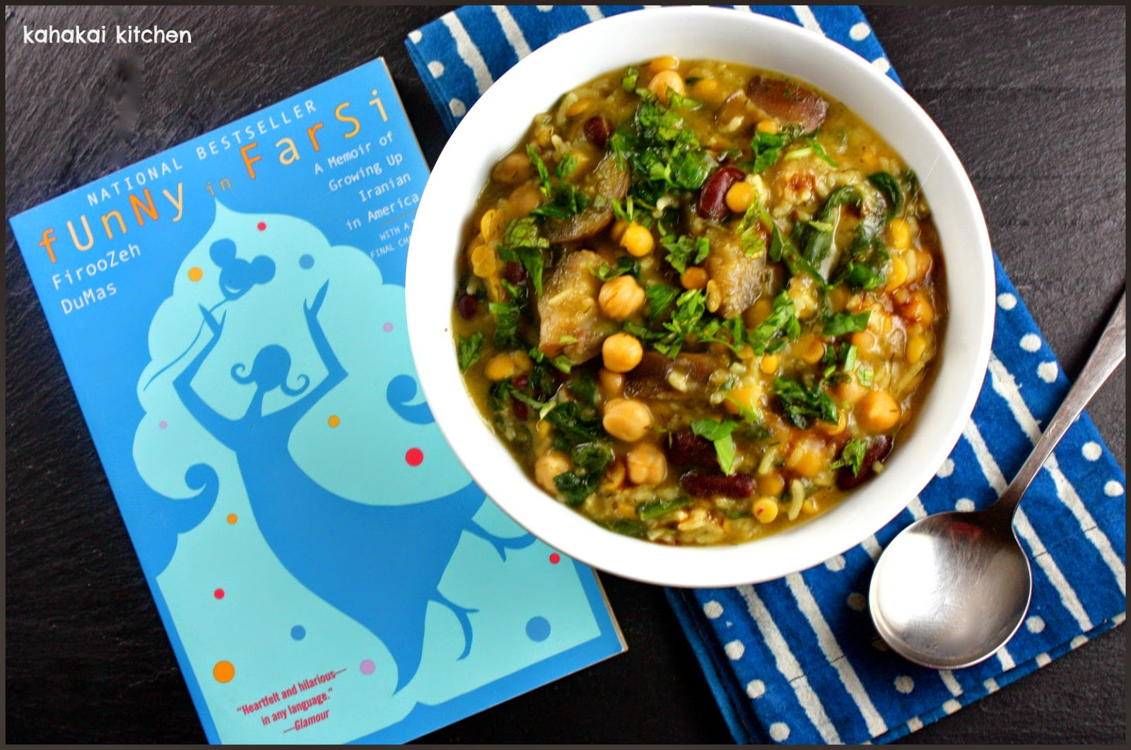 Kahakai Kitchen: Persian-Inspired Chickpea & Herb Soup with Eggplant ...